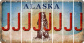 Alaska J Cut License Plate Strips (Set of 8) LPS-AK1-010