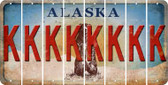 Alaska K Cut License Plate Strips (Set of 8) LPS-AK1-011