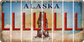 Alaska L Cut License Plate Strips (Set of 8) LPS-AK1-012