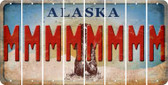 Alaska M Cut License Plate Strips (Set of 8) LPS-AK1-013