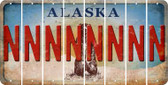 Alaska N Cut License Plate Strips (Set of 8) LPS-AK1-014
