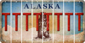 Alaska T Cut License Plate Strips (Set of 8) LPS-AK1-020