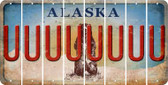 Alaska U Cut License Plate Strips (Set of 8) LPS-AK1-021