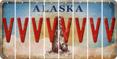 Alaska V Cut License Plate Strips (Set of 8) LPS-AK1-022
