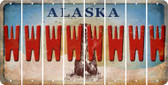 Alaska W Cut License Plate Strips (Set of 8) LPS-AK1-023