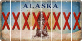 Alaska X Cut License Plate Strips (Set of 8) LPS-AK1-024