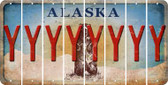 Alaska Y Cut License Plate Strips (Set of 8) LPS-AK1-025