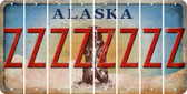 Alaska Z Cut License Plate Strips (Set of 8) LPS-AK1-026