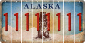 Alaska 1 Cut License Plate Strips (Set of 8) LPS-AK1-028