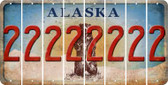 Alaska 2 Cut License Plate Strips (Set of 8) LPS-AK1-029