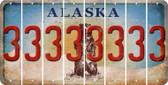 Alaska 3 Cut License Plate Strips (Set of 8) LPS-AK1-030