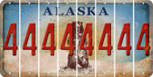 Alaska 4 Cut License Plate Strips (Set of 8) LPS-AK1-031