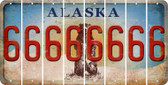 Alaska 6 Cut License Plate Strips (Set of 8) LPS-AK1-033