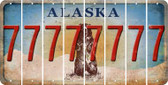 Alaska 7 Cut License Plate Strips (Set of 8) LPS-AK1-034