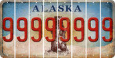 Alaska 9 Cut License Plate Strips (Set of 8) LPS-AK1-036