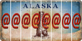 Alaska ASPERAND Cut License Plate Strips (Set of 8) LPS-AK1-039