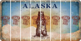 Alaska BASKETBALL HOOP Cut License Plate Strips (Set of 8) LPS-AK1-058
