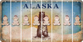 Alaska BABY GIRL Cut License Plate Strips (Set of 8) LPS-AK1-067