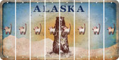 Alaska CAT Cut License Plate Strips (Set of 8) LPS-AK1-072