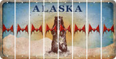 Alaska BAT Cut License Plate Strips (Set of 8) LPS-AK1-074