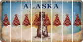 Alaska CHRISTMAS TREE Cut License Plate Strips (Set of 8) LPS-AK1-077
