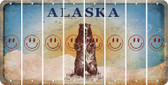 Alaska SMILEY FACE Cut License Plate Strips (Set of 8) LPS-AK1-089
