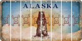 Alaska SKULL Cut License Plate Strips (Set of 8) LPS-AK1-092