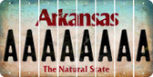 Arkansas A Cut License Plate Strips (Set of 8) LPS-AR1-001