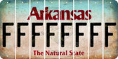 Arkansas F Cut License Plate Strips (Set of 8) LPS-AR1-006