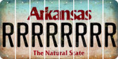 Arkansas R Cut License Plate Strips (Set of 8) LPS-AR1-018
