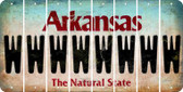 Arkansas W Cut License Plate Strips (Set of 8) LPS-AR1-023