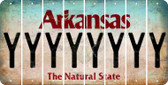Arkansas Y Cut License Plate Strips (Set of 8) LPS-AR1-025