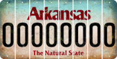 Arkansas 0 Cut License Plate Strips (Set of 8) LPS-AR1-027