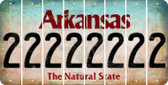 Arkansas 2 Cut License Plate Strips (Set of 8) LPS-AR1-029
