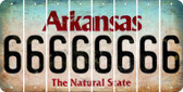 Arkansas 6 Cut License Plate Strips (Set of 8) LPS-AR1-033