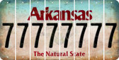 Arkansas 7 Cut License Plate Strips (Set of 8) LPS-AR1-034