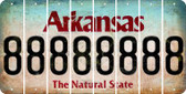 Arkansas 8 Cut License Plate Strips (Set of 8) LPS-AR1-035
