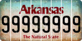 Arkansas 9 Cut License Plate Strips (Set of 8) LPS-AR1-036