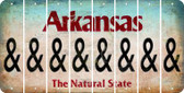 Arkansas AMPERSAND Cut License Plate Strips (Set of 8) LPS-AR1-049