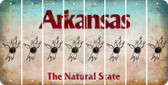 Arkansas BOWLING Cut License Plate Strips (Set of 8) LPS-AR1-059