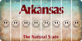 Arkansas SMILEY FACE Cut License Plate Strips (Set of 8) LPS-AR1-089