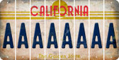 California A Cut License Plate Strips (Set of 8) LPS-CA1-001