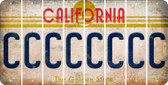 California C Cut License Plate Strips (Set of 8) LPS-CA1-003