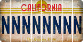 California N Cut License Plate Strips (Set of 8) LPS-CA1-014