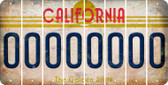 California O Cut License Plate Strips (Set of 8) LPS-CA1-015