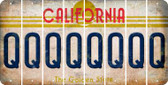 California Q Cut License Plate Strips (Set of 8) LPS-CA1-017