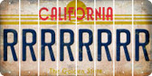 California R Cut License Plate Strips (Set of 8) LPS-CA1-018