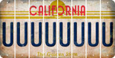 California U Cut License Plate Strips (Set of 8) LPS-CA1-021