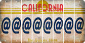 California ASPERAND Cut License Plate Strips (Set of 8) LPS-CA1-039