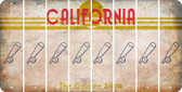 California BASEBALL WITH BAT Cut License Plate Strips (Set of 8) LPS-CA1-057